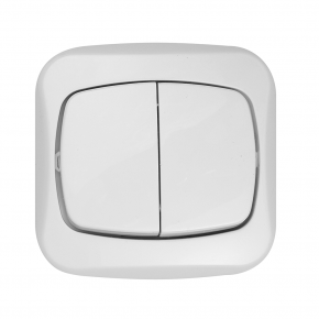 Wylaczniki-podwojne - biały włącznik podwójny podtynkowy 10a atut wp-2a abex