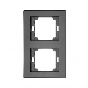 Ramki-podwojne - ramka podwójna czarna antracyt pionowa onyx ra-2op abex