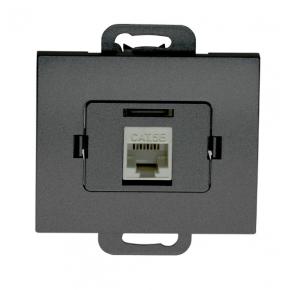 Gniazda-komputerowe - gniazdo komputerowe rj45 kat 5 pojedyncze czarne onyx abex