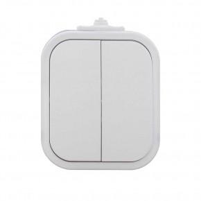 Wylaczniki-podwojne - biały włącznik podwójny natynkowy ip54 wnt-2b2 9001550 abex