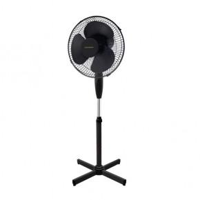 Wentylatory-podlogowe - czarny wentylator podłogowy stojący 45w max. wysokość 125cm veneto-40b 14806 kanlux
