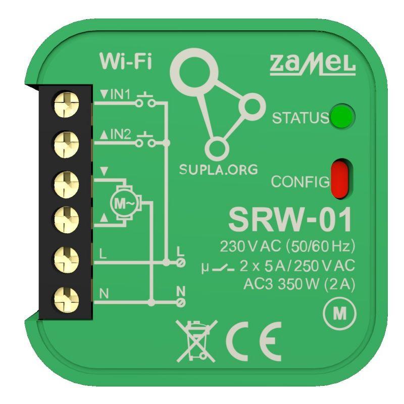 Sterownik-rolet - sterownik rolet wi-fi srw-01 supla zamel firmy ZAMEL