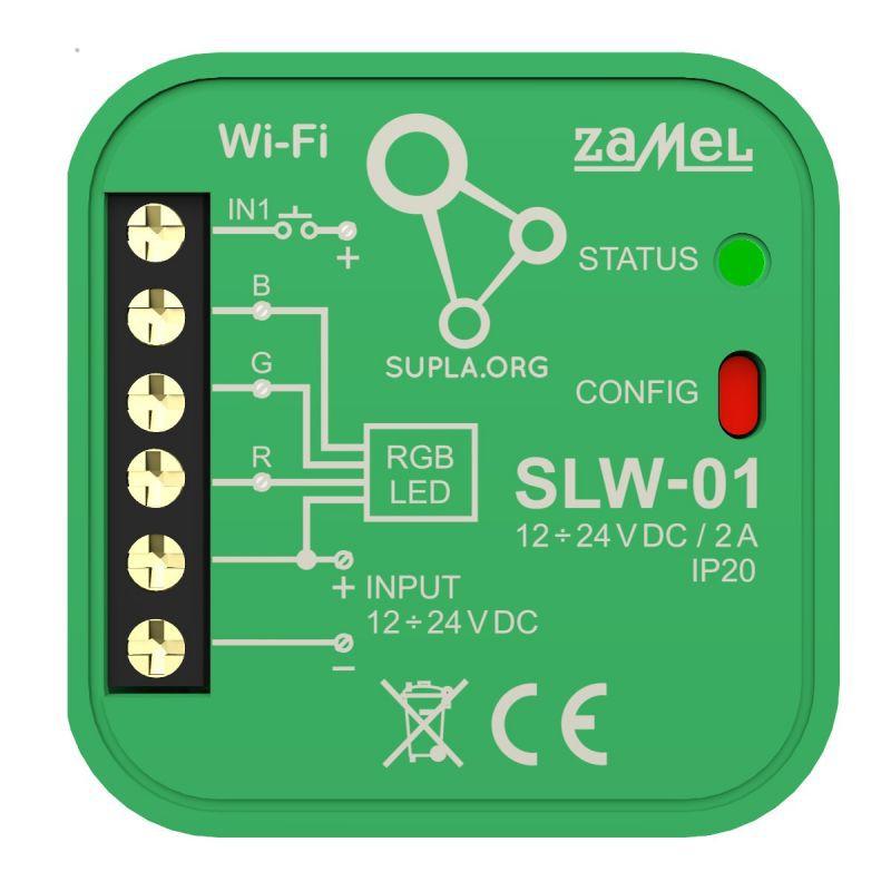 Sterowniki-i-odbiorniki - sterownik led rgb wi-fi slw-01 supla zamel firmy ZAMEL