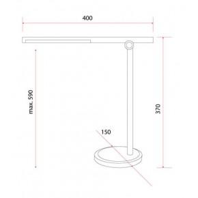 Lampki-biurkowe - lampa biurkowa led czarna zginana  z gniazdem usb 10w żuraw usb 3 barwy światła rum-lux