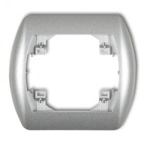 Ramki-instalacyjne - ramka pojedyncza pozioma srebrny metalik trend 7rh-1 karlik