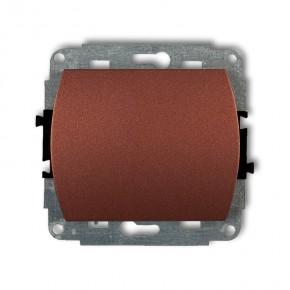 Wylaczniki-jednobiegunowe - włącznik pojedynczy do ramki brązowy metalik trend 9wp-1 karlik