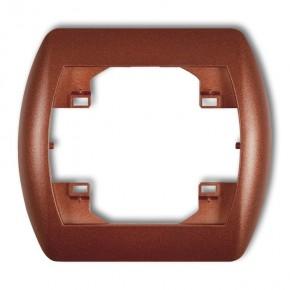Ramki-instalacyjne - ramka pojedyncza brązowy metalik trend 9rh-1 karlik