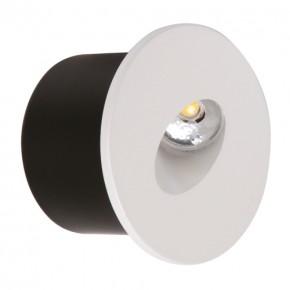 Oswietlenie-schodowe - oprawa przyschodowa led yakut biała okrągła 230v 02618 ideus