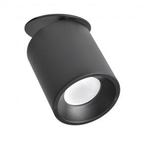 Oprawy-sufitowe - oczko sufitowe podtynkowe ruchome czarne gu10 haron 314192 polux
