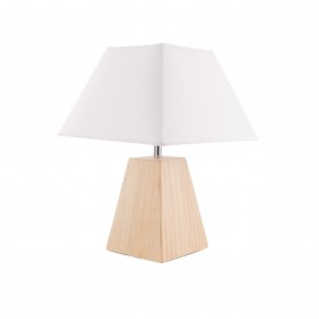Lampki-nocne - lampka nocna skandynawska biała plus drewno vo0803 emma volteno