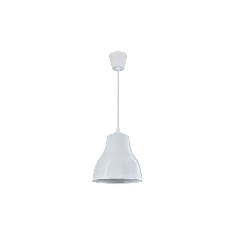 Plastikowa biała lampa sufitowa INKA 00012 IDEUS
