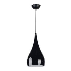Zwisająca czarna oprawa oświetleniowa nad stół JUSTA BLACK 03264 IDEUS