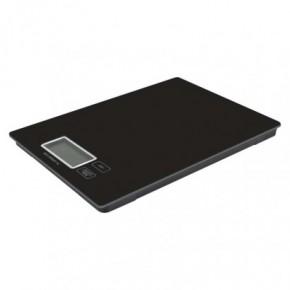 Wagi-kuchenne-i-lazienkowe - waga kuchenna płaska na baterie szkło czarna do 5 kg ev014b emos