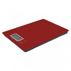 Wagi-kuchenne-i-lazienkowe - waga kuchenna na baterie płaska czerwona do 5 kg ev014r emos