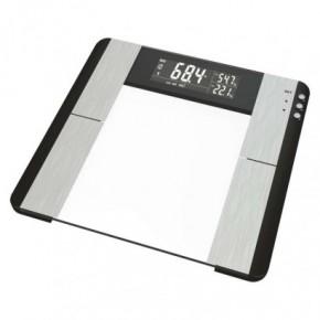 Wagi-kuchenne-i-lazienkowe - waga łazienkowa srebrna 150kg na baterie bmi ev104 emos
