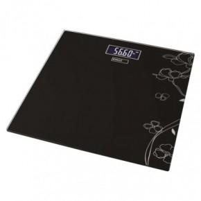 Wagi-kuchenne-i-lazienkowe - czarna waga łazienkowa z wzorkami płaska 180kg ev106 emos