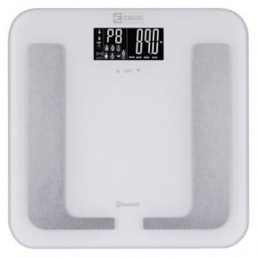 Wagi-kuchenne-i-lazienkowe - waga łazienkowa do 150kg z bluetooth pomiar bmi ev107 emos