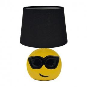Żółta lampka biurkowa emotikonka E14 BLACK EMO IDEUS