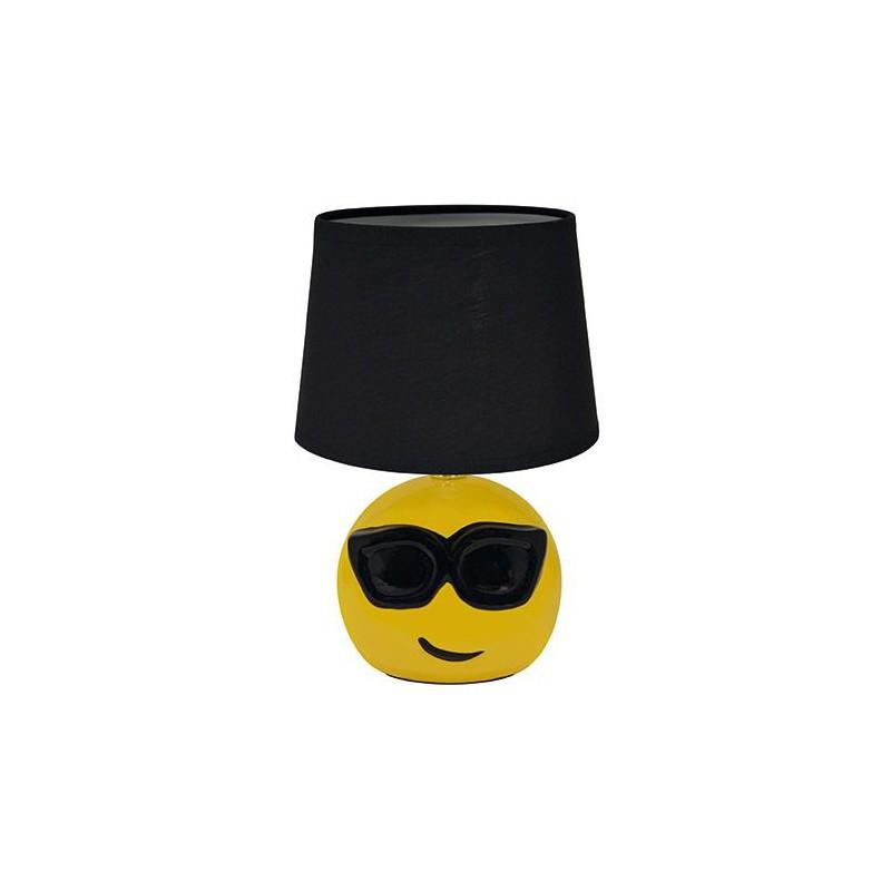 Oswietlenie-do-pokoju-dzieciecego - żółta lampka biurkowa emotikonka e14 black emo ideus firmy IDEUS - STRUHM