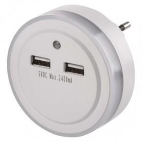 Lampki-do-kontaktu - lampka nocna do kontaktu z czujnikiem zmierzchu i usb p3313 emos