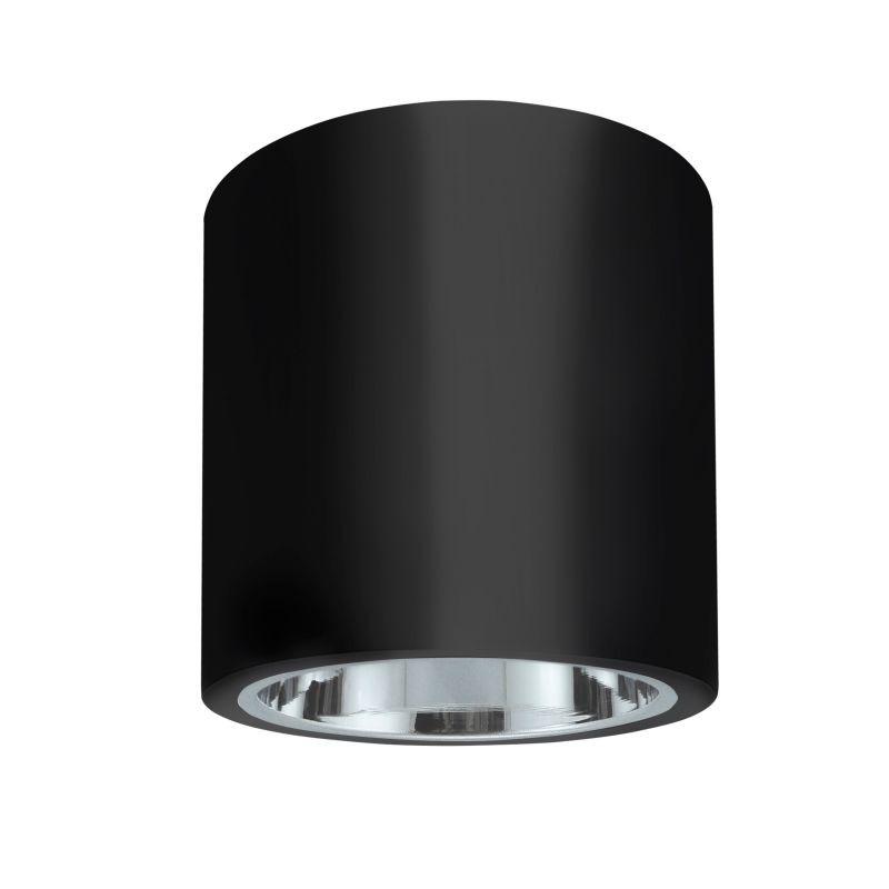 Oprawy-sufitowe - oprawa natynkowa metalowa okrągła czarna jupiter md-5011 polux firmy POLUX