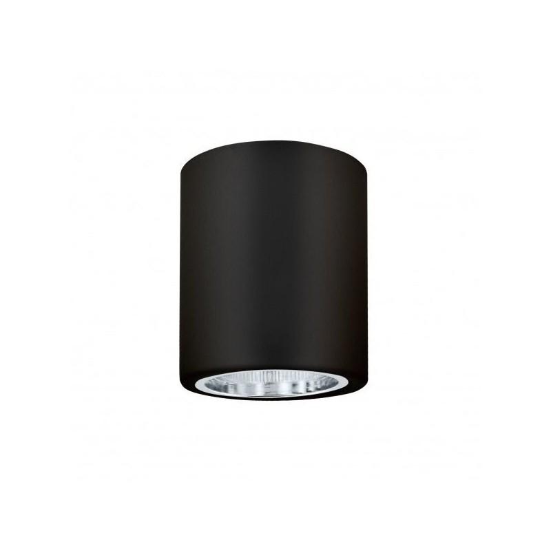 Oprawy-sufitowe - oprawa natynkowa metalowa okrągła czarna jupiter md-4011 polux firmy POLUX