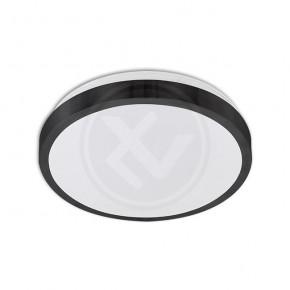Plafony - okrągły plafon w czarnej obudowie na dwie żarówki e27 solen 6568 lvt