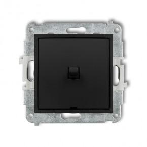 Wylaczniki-amerykanskie - włącznik pojedynczy amerykański czarny mat deco mini 12mwpus-1 karlik
