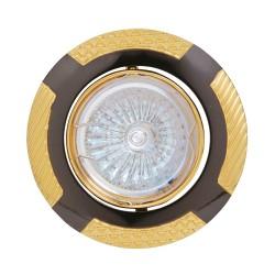 Oprawy-sufitowe - czarno-złota oprawa sufitowa oczko na 12v leylak 01326 ideus