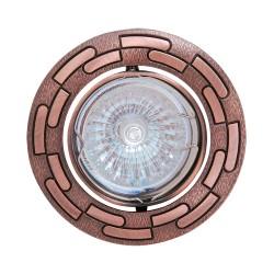 Oprawy-sufitowe - dekoracyjne oczko sufiowe miedziane ornament mr16 12v zambak 01331 ideus