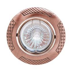 Oprawy-sufitowe - dekoracyjne oczko sufiowe miedziane leylak mr16 12v 01324 ideus