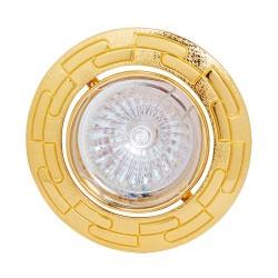 Oprawy-sufitowe - złote oczko sufiowe ze wzorkiem tanie mr16 12v zambak 01331 ideus
