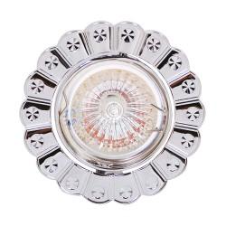 Oprawy-sufitowe - oczko sufitowe na żarówkę halogenową chrom 12v papatya 01244 ideus