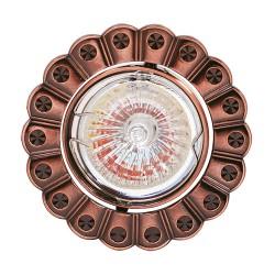 Oprawy-sufitowe - miedziana oprawka sufitowa ze wzorkiem mr16 12v papatya 01247 ideus