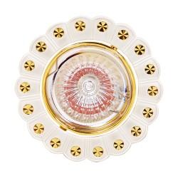 Oprawy-sufitowe - ozdobna oprawa sufitowa na żarówkę halogenową 12v papatya 01248 ideus