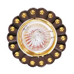 Oprawy-sufitowe - czarno- złota oprawka sufitowa na żarówkę halogenową 12v papatya 01249 ideus