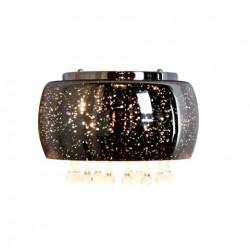 Kinkiety - okrągły kinkiet na dwie żarówki g9 chrom+kryształki julia 317438 polux