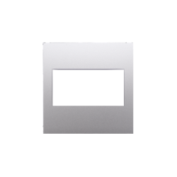 Zaslepki - zaślepka bez mostka srebrny mat metalizowany dp/43 simon 54 kontakt simon