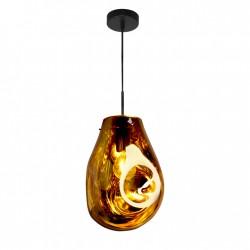 Lampy-sufitowe - złota lampa sufitowa wisząca na żarówkę e27 il mio rope kimberly gold 316264 polux