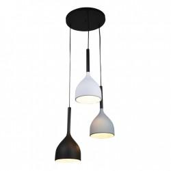 Lampy-sufitowe - lampa sufitowa potrójna w trzech uniwersalnych kolorach 3xe27 il mio avola 316585 polux