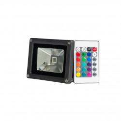 Naswietlacze-led-50w - naświetlacz z kolorowym światłem rgb led z pilotem 30w vo0540 volteno