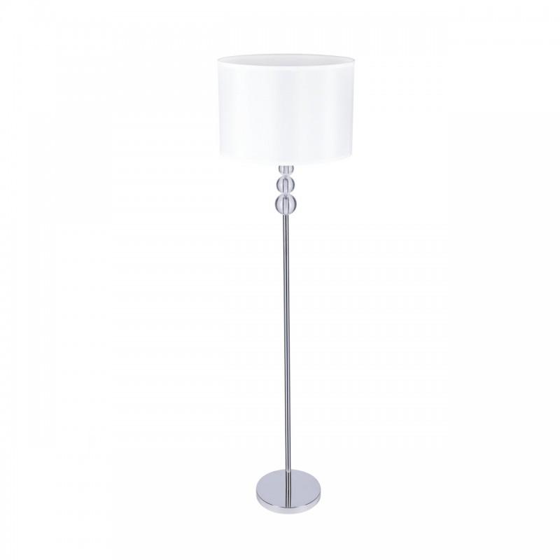 Lampy-stojace - lampa podłogowa biała glamour chrom elen vo1248 volteno firmy VOLTENO