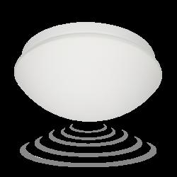 Plafony - plafon z mikrofalowym czujnikiem ruchu na wymienne źródło światła e27 marin or-pl-303we27smm orno