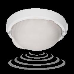 Plafony - plafon z mikrofalowym czujnikiem ruchu na żarówkę e27 biały 75w a2120-mp-hf orno