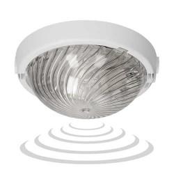 Plafony - biały plafon z mikrofalowym czujnikiem ruchu 75w e27 a2120-p-hf orno