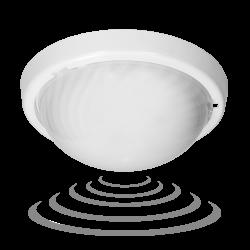 Plafony - plafon z mikrofalowym czujnikiem ruchu biały wymienne źródło światła e27 ip44 75w a2210-mp-hf orno