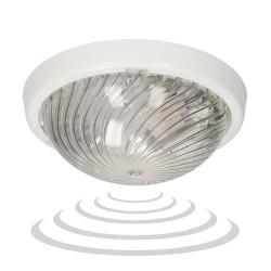 Plafony - oprawa oświetleniowa z mikrofalowym czujnikiem ruchu biały wymienne źródło światła e27 ip44 75w a2210-p-hf orno