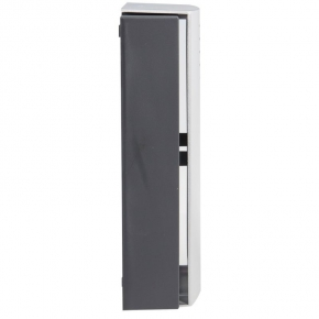 Dzwonek do drzwi typu gong czarno srebrny LARGO GNS-208 ZAMEL