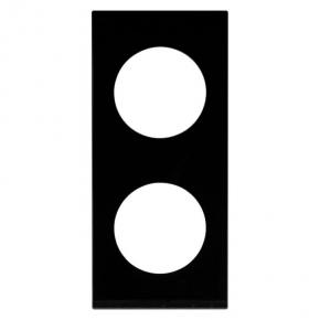 RAMKA KONEKTO kwadrat podwójna SZKŁO CZARNE LSR-SCK-X2 ZAMEL
