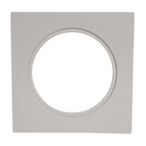 Ramka do opraw LED pojedyncza szara kwadratowa LSR-SZK-X1 KONEKTO ZAMEL